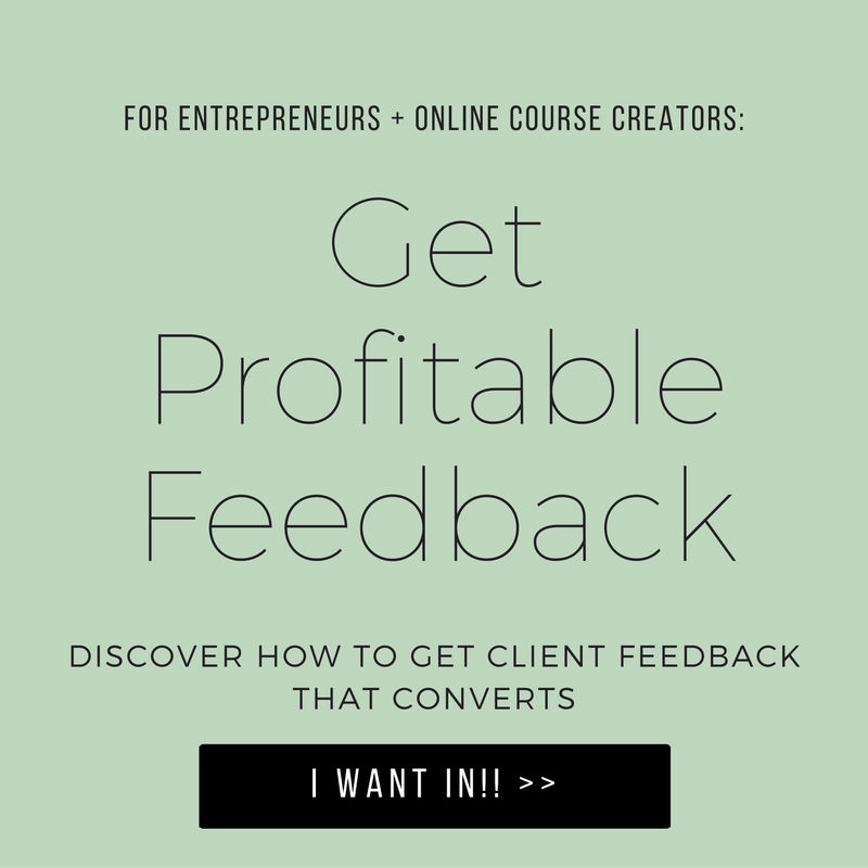 Free Course: Get Profitable Feedback