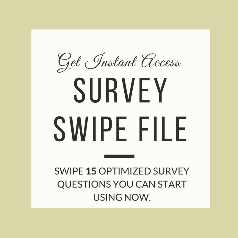Free Survey Question Swipe File