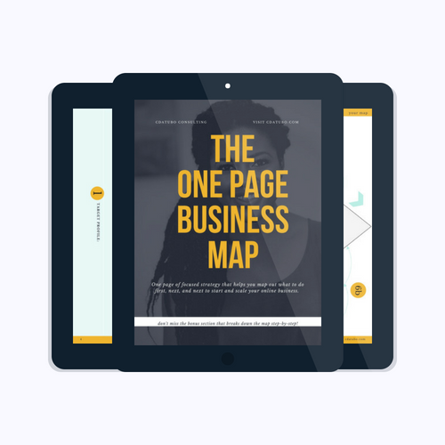 one page business map logo